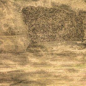 Minimalisme Kunst Fotografie Betonnen Muur Oud van Hendrik-Jan Kornelis