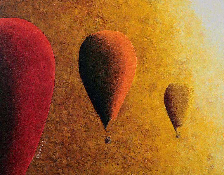 Rot, orange und gelb von Russell Hinckley