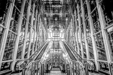 Metrostation Blijdorp, Rotterdam van Leon Okkenburg
