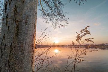 Zonsondergang aan de Allersee van Marc-Sven Kirsch