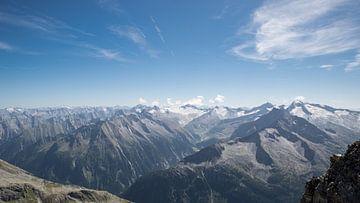 Panoramaterrasse Hintertux Gletscher  van Ronald De Neve