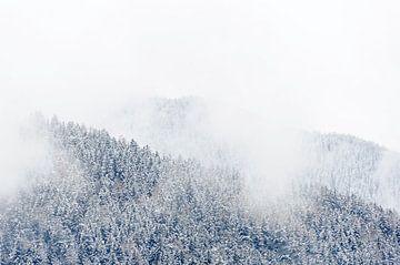 Laaghangende bewolking in Tirol, Oostenrijk von