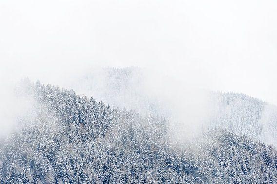 Laaghangende bewolking in Tirol, Oostenrijk