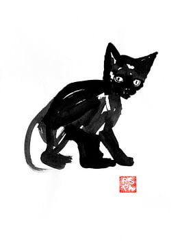 schwarze Katze von philippe imbert