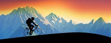 Somewhere on the Alpe d'Huez van Harry Hadders