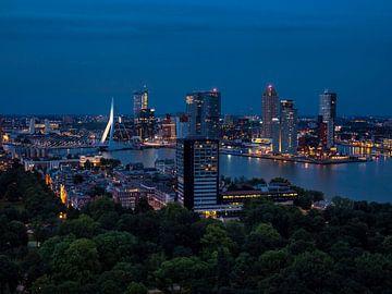 Nachtelijk Rotterdam  van victor van bochove