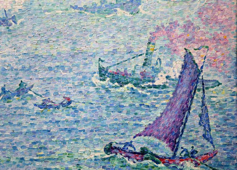 Hafen von Rotterdam, Paul Signac, 1907 von Atelier Liesjes