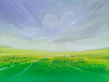 Grüner Nebel van Silvian Sternhagel