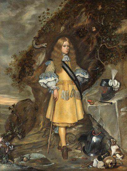 Memorieportret van Moses ter Borch, Gerard ter Borch (II) van Meesterlijcke Meesters
