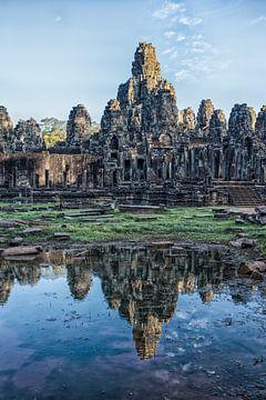 Ruinen des Bayon-Tempels in Angkor Wat, Kambodscha von Wout Kok