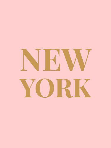 NEW YORK (in roze/goud)
