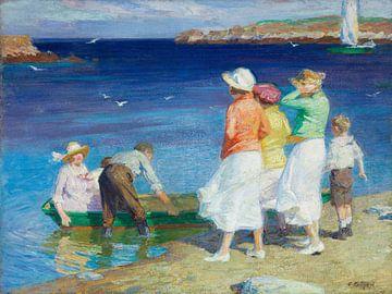 Edward H. Potthast (Amerikaner, geb. 1857, gest. 1927)~Eine Segelgruppe (Auf dem Weg zu einem Segelb