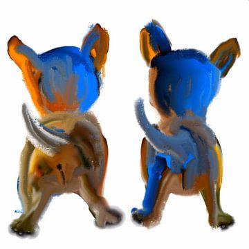 Honden pups van Raina Versluis