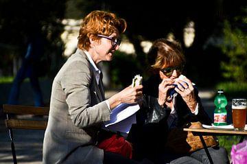 Eten in het park