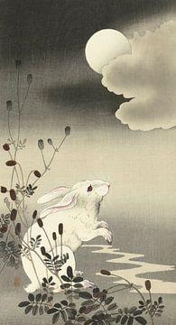 Kaninchen bei Vollmond, Ohara Koson