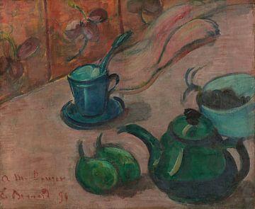 Émile Bernard-Stillleben mit Teekanne, Tasse und Obst