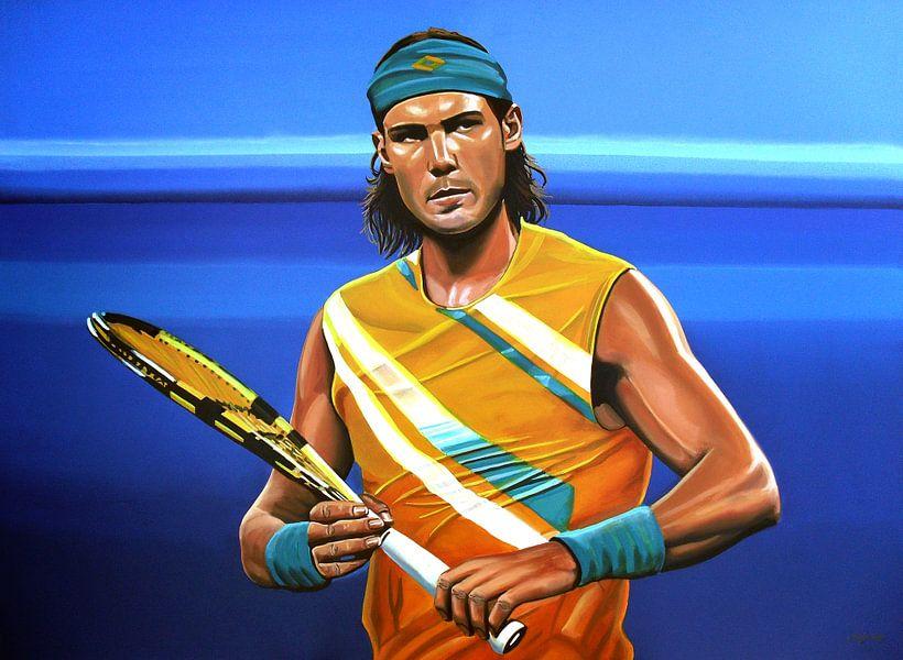 Rafael Nadal schilderij van Paul Meijering