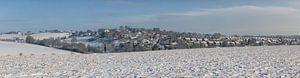 Winterpanorama van de wijk Hulsveld in Simpelveld van