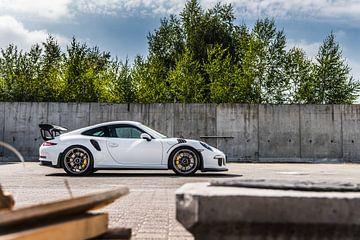 Witte Porsche 911 GT3 RS van Bas Fransen