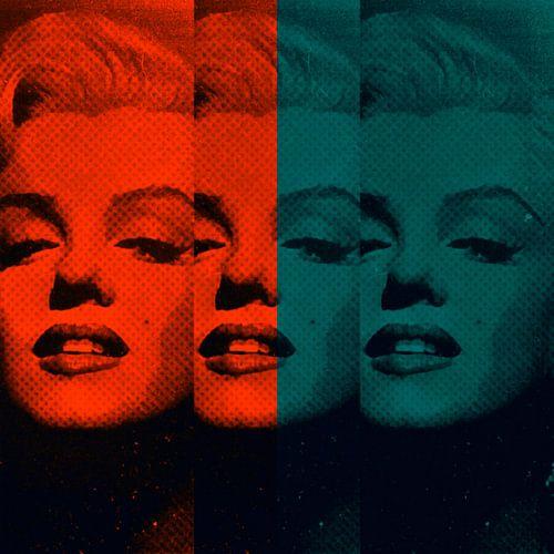 Marilyn Monroe Neon Colourful Pop Art PUR