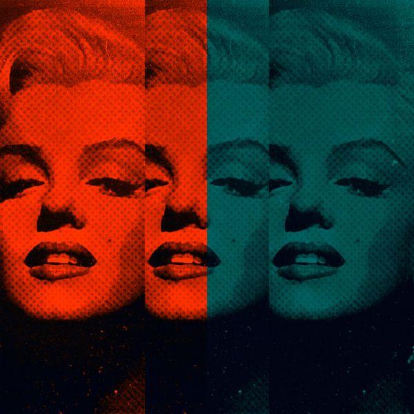 Marilyn Monroe Neon Colourful Pop Art PUR van Felix von Altersheim