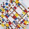 Piet Mondriaan. Victory Boogie Woogie von 1000 Schilderijen Miniaturansicht