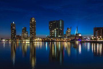Rotterdam Skyline Wilhelminapier van Bert Buijsrogge