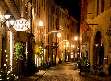 Stockholm - Gamla Stan bij nacht von Ralph vdL