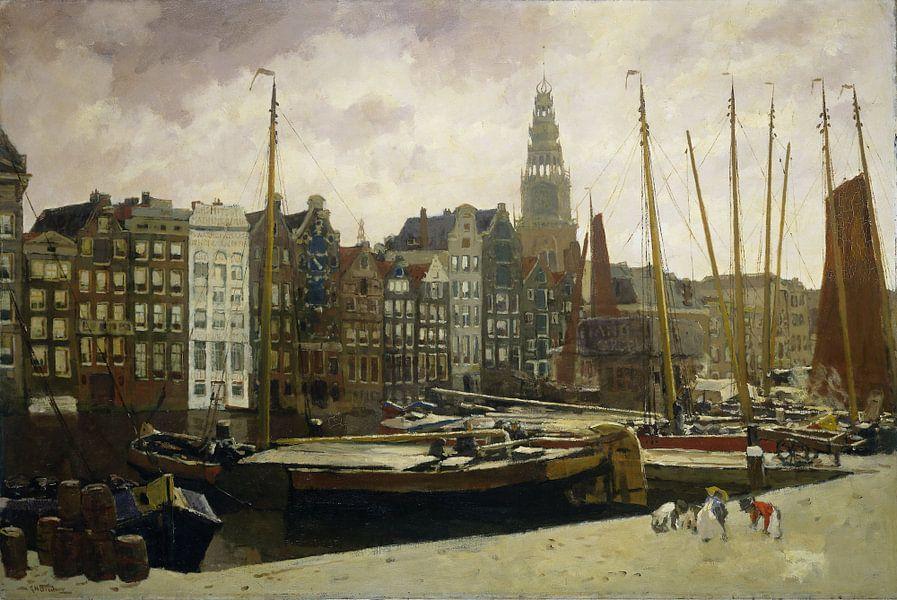 Het Damrak in Amsterdam