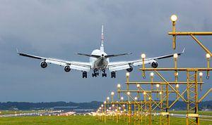 Vliegtuig tijdens landing