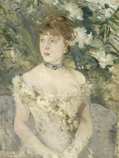 Young Girl in a Ball Gown, Berthe Morisot von Meesterlijcke Meesters
