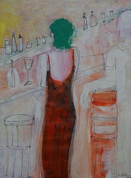 Frau im Kaffeehaus von Renata Ramos