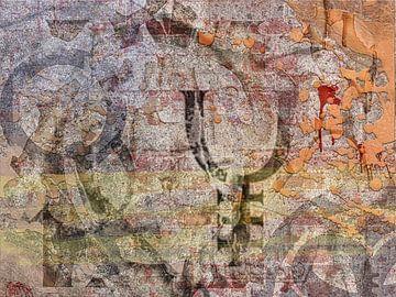 Abstrakte Malerei in Brauntönen  von Rietje Bulthuis
