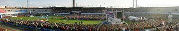 Panoramafoto start Marathon Amsterdam 2014 van