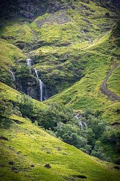 Waterval bij Glen Coe van Pascal Raymond Dorland