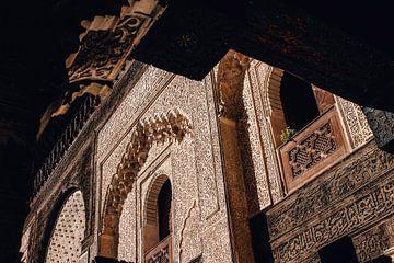 Traditionele muurdecoratie in Fez, Marokko van Maartje Kikkert