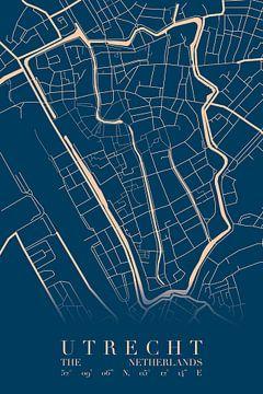 Plan de la ville d'Utrecht sur Walljar