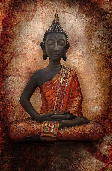 Oranje Boeddha van Claudia Moeckel