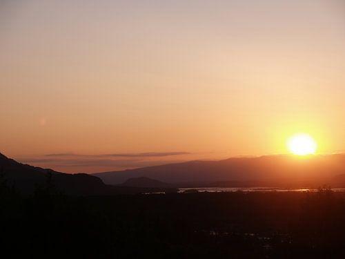 Sunset Knik River - Alaska van