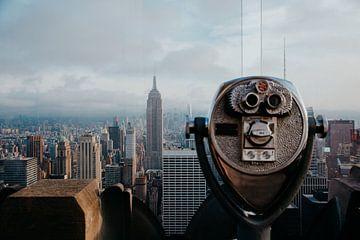 Uitzicht vanaf Top op the Rock over de skyline van Manhattan van Expeditie Aardbol