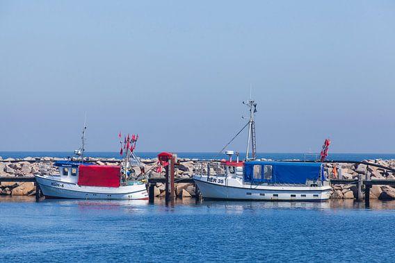 Vieux bateaux de pêche dans le port, Kühlungsborn, Mecklenburg-Vorpommern, Allemagne, Europe