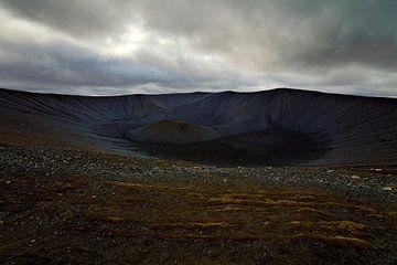 Hverfjall vulkaan te IJsland van