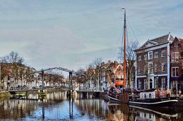 Schiedam-Appelmarktbrug, Lange Haven van Leo Huijzer