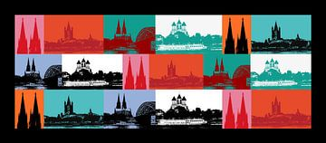 Köln Panorama van Gabi Siebenhühner