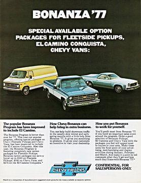 Chevrolet Truck Bonanza Program Models reclame 1977 van Atelier Liesjes