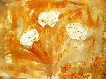 white roses van M.A. Ziehr