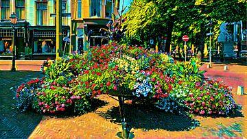 Bloemen pracht centrum Den Haag van Digital Art Nederland