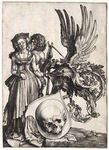Schild mit Totenkopf, Albrecht Dürer