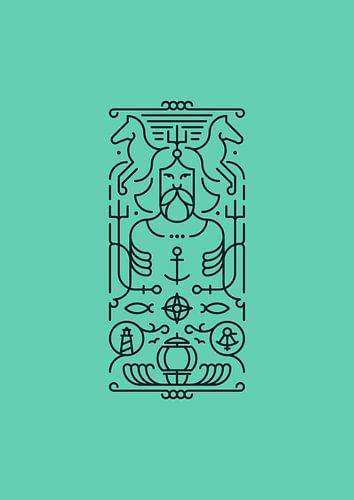 Poseidon (türkis) von Rene Hamann
