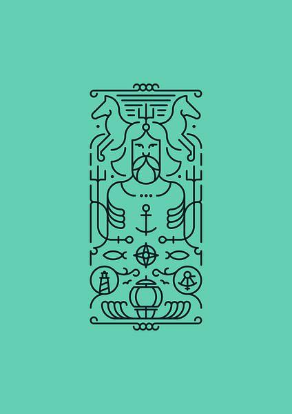 Poseidon (turquoise) van Rene Hamann